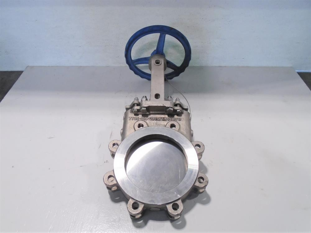 "Velan 6"" 150# CF8M Knife Gate Valve, Model C, Fig# L14-0310C-13ST-W320"
