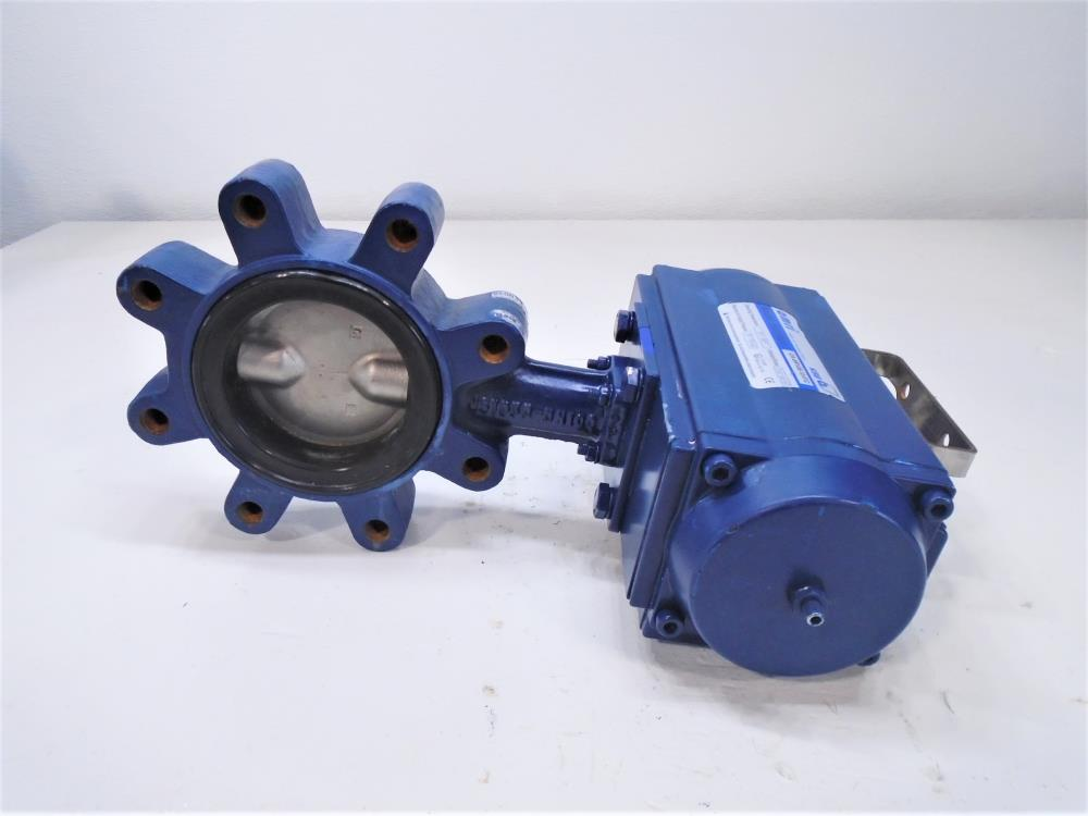 "Amri 4"" 150# Lined Butterfly Valve, Cast Iron 3G6K6XC w/Actuator CA-SR105-10-F/C"