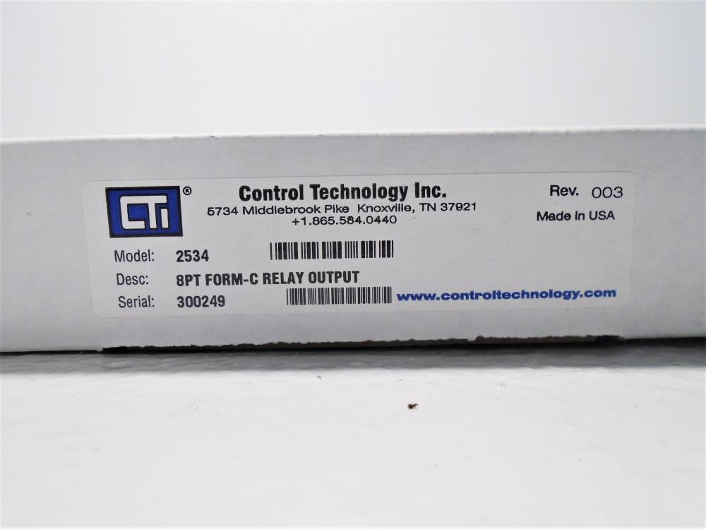 Control Technology 2534 8-Point Form-C Single Wide Relay Output Module