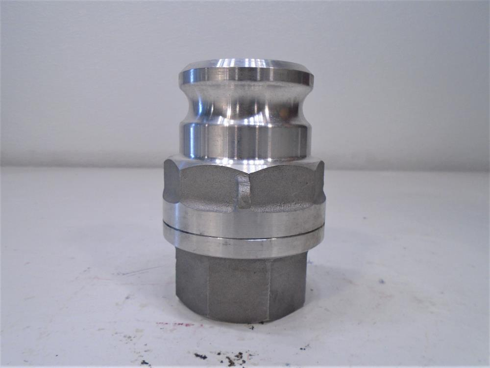 "PT Coupling MD20A Maxi-Dry 2"" FNPT x 2-1/2"" Coupler Dry Disconnect Adapter"