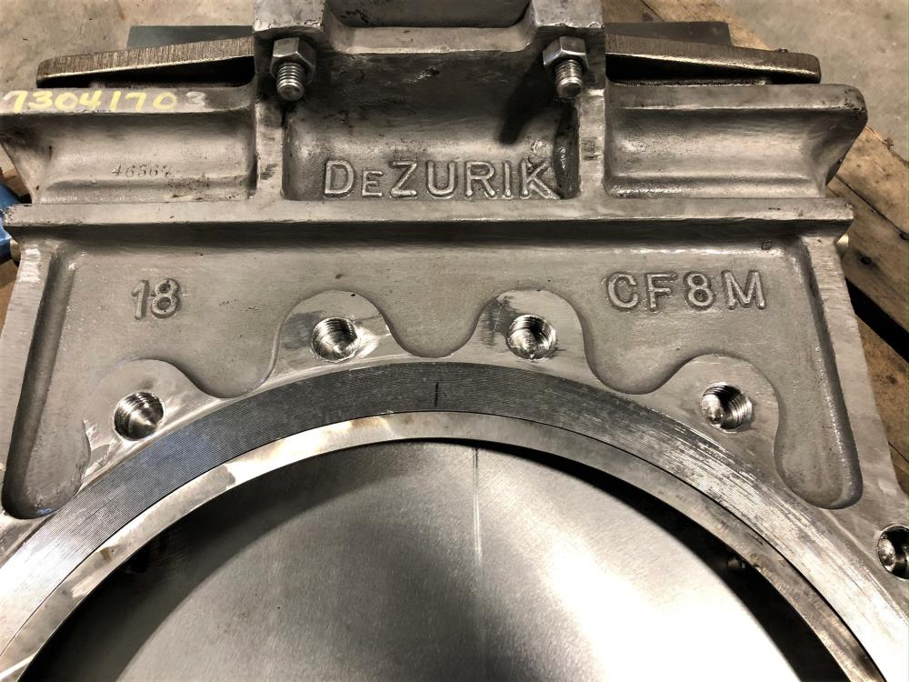 "Dezurik 18"" 150# 316SS Knife Gate Valve, Part# 9277178, Figure KGS"