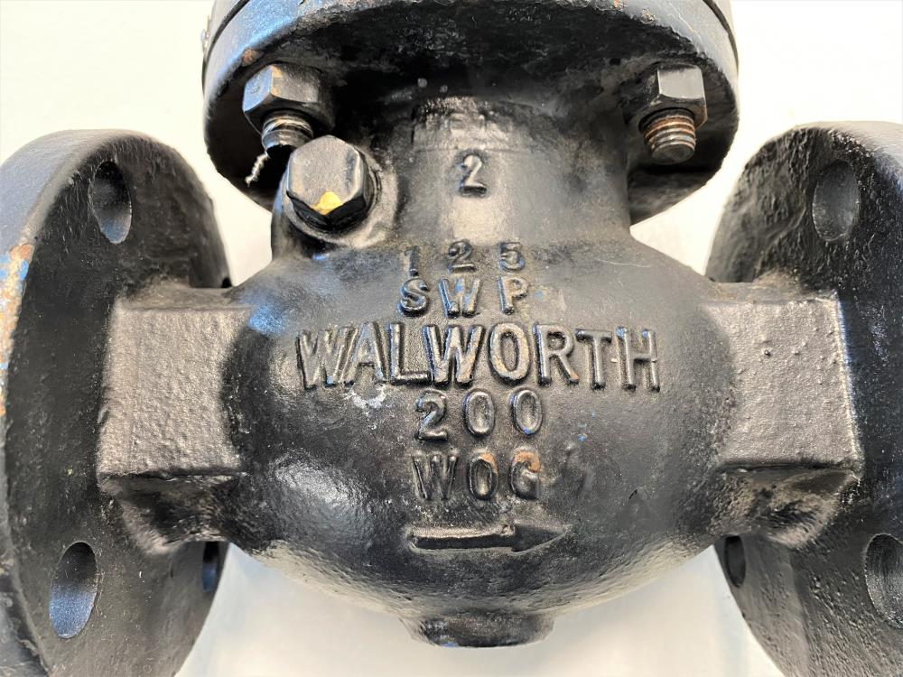 "Walworth 2"" 125# Cast Iron Flat Face Swing Check Valve, W928"