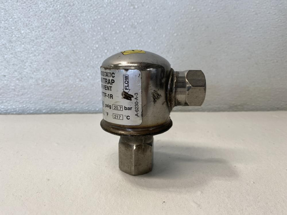 "Armstrong 1/2"" NPT Thermostatic Steam Trap or Air Vent TTF-1R, 300 PSIG"