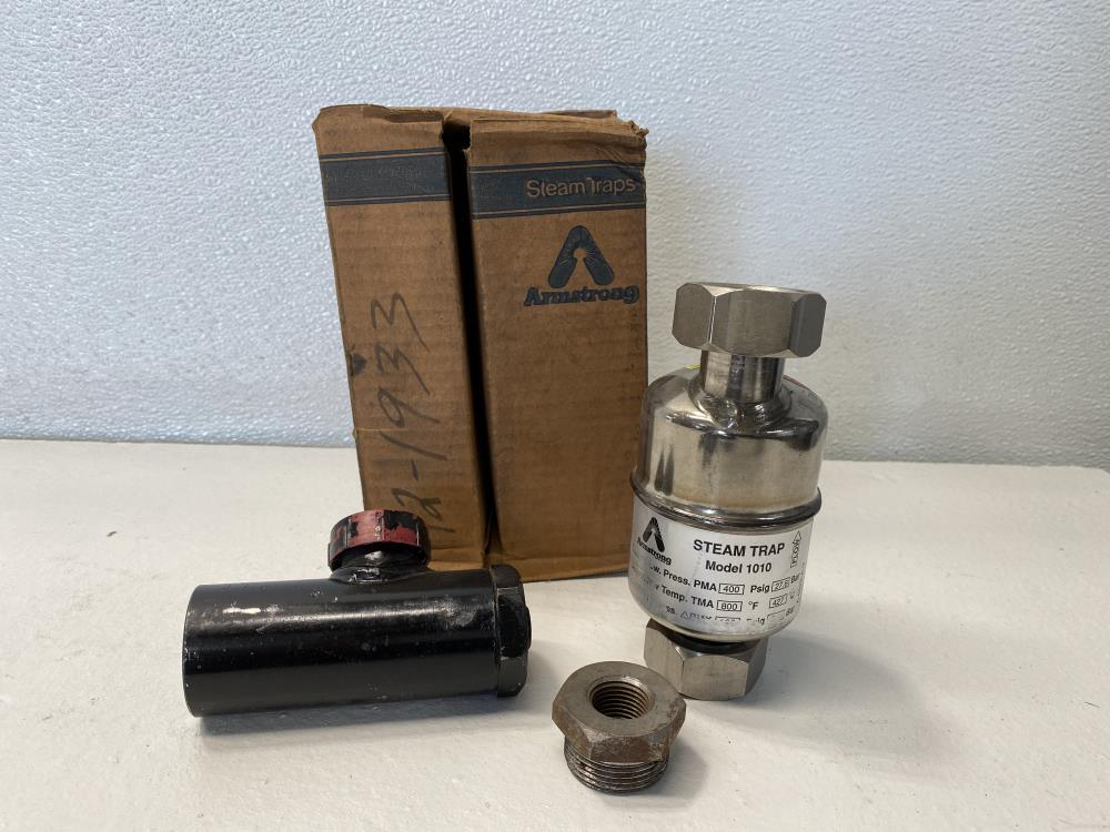 "Armstrong 1010 Steam Trap 1/2"" NPT, 400 PSIG with Strainer"