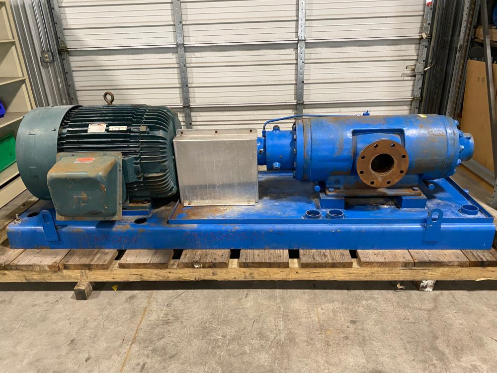 IMO Screw Pump, 3043/1488 W/ Reliance Electric A-C Motor,  1785 RPM, 125 HP