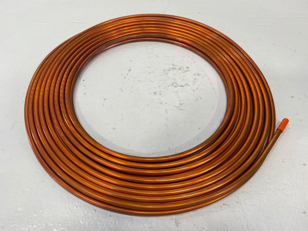 "Lot of (4) Halstead 1/4"" x 50' Soft Copper Refrigeration Tubing"