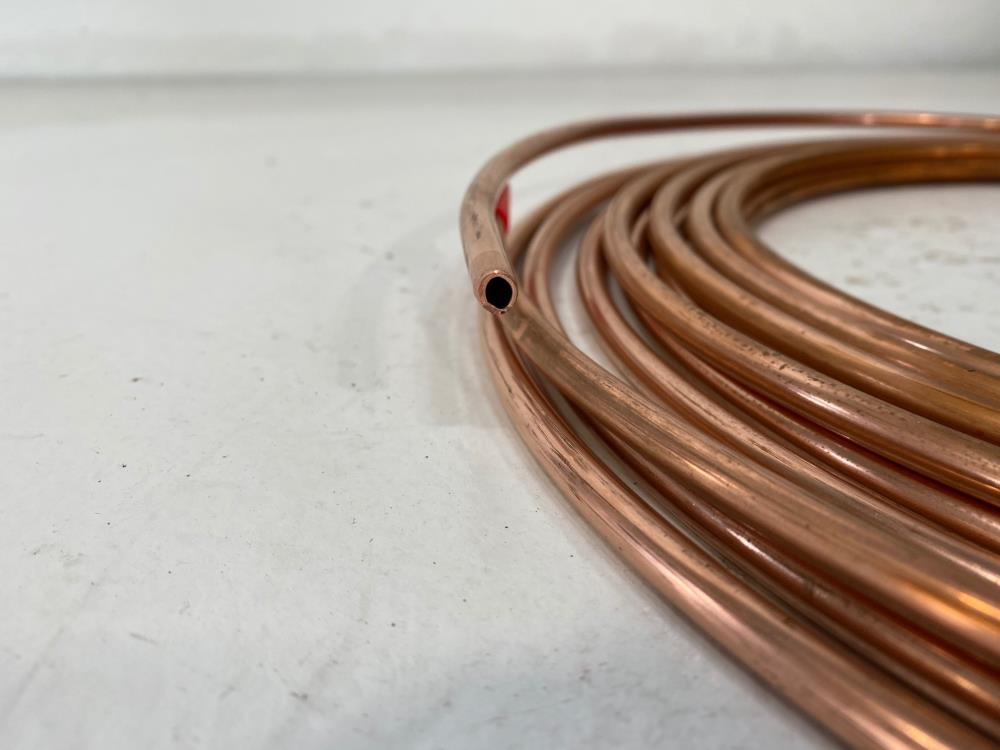 "Lot of (3) Reading 1/4"" x 50' Soft Copper Refrigeration Tubing"