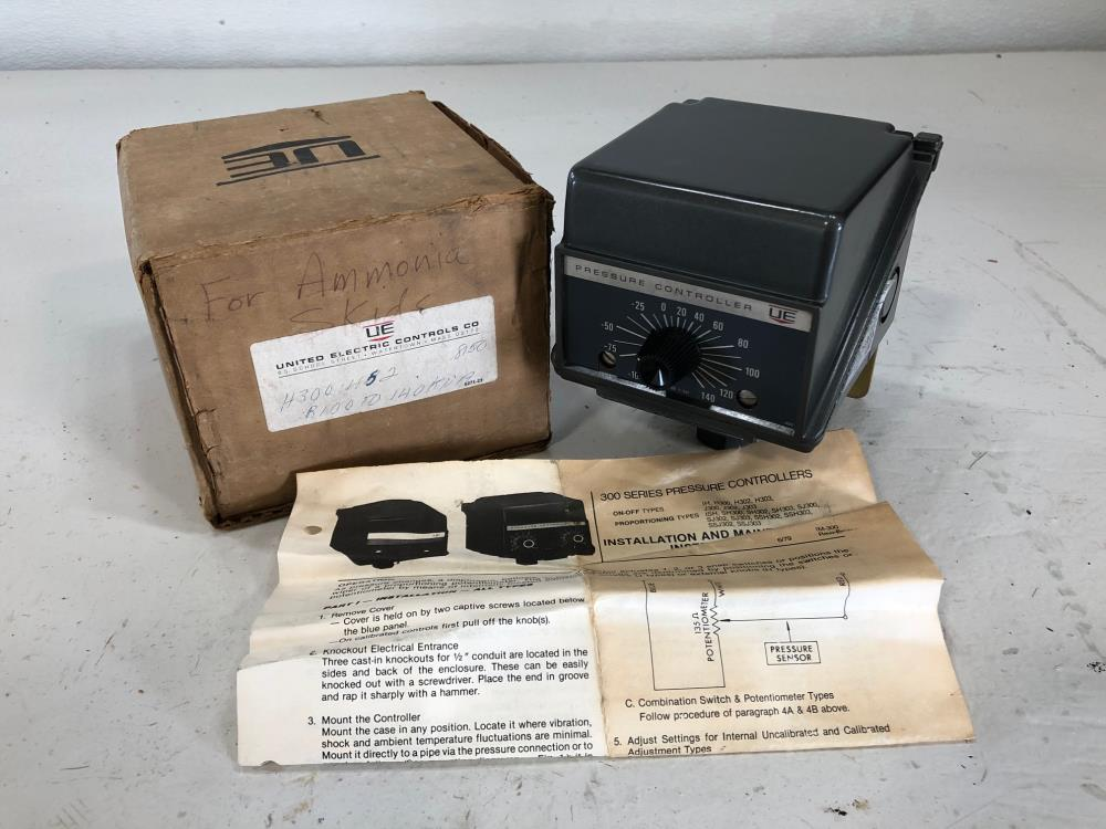 United Electric H300 Pressure Controller, Model 452
