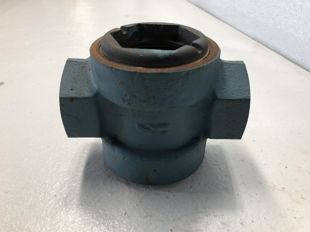 "Schutte & Koerting 1-1/2"" NPT Steel Sight Flow Indicator W/ Rotor 1810-1-1 1/2"