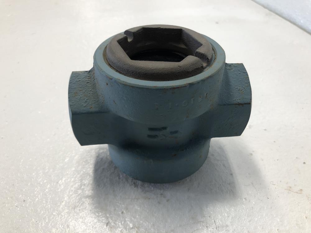 "Schutte & Koerting 1"" NPT Steel Sight Flow Indicator W/ Rotor 1-1810-B"