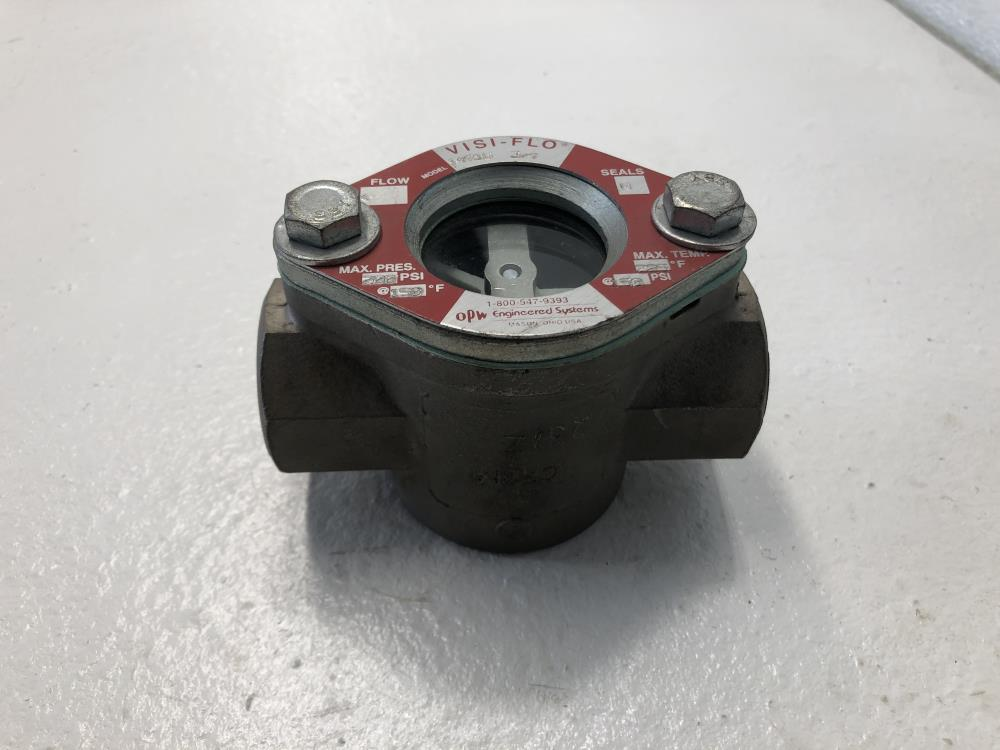 """Visi-Flo 3/4"""" NPT Stainless Steel Sight Flow Indicator W/ Rotor 14710"""