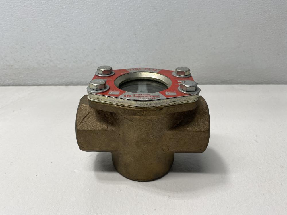"Visi-Flo 1-1/2"" NPT Bronze Sight Flow Indicator W/ Rotor #1431"