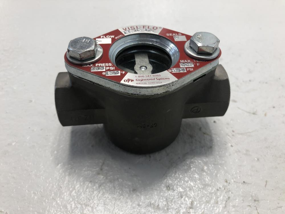 "Visi-Flo 1/2"" NPT CF8M Sight Flow Indicator W/ Rotor #14710"