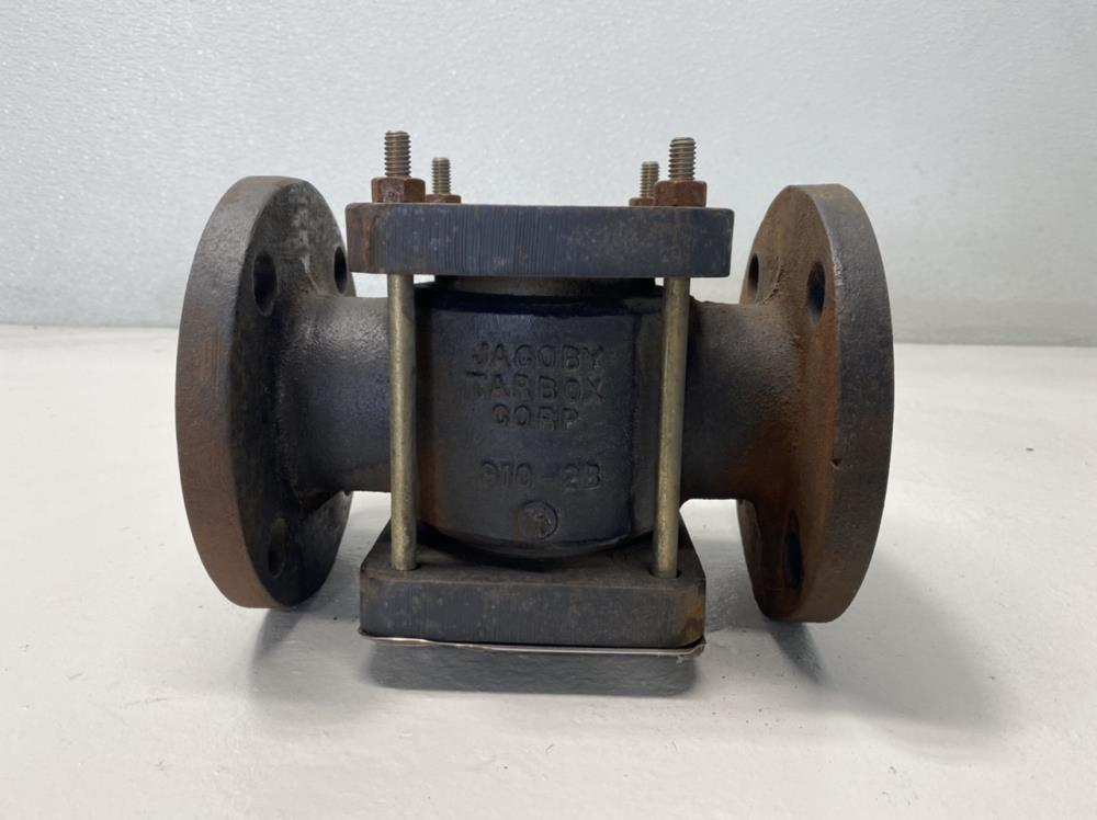 """Jacoby Tarbox 2"""" Flanged Cast Iron Sight Flow Indicator w/ Flapper 910-FA"""