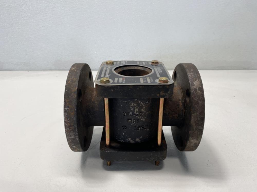 "John C. Ernst 2"" Flanged WCB Sight Flow Indicator w/ Drip Tube, Model 203"