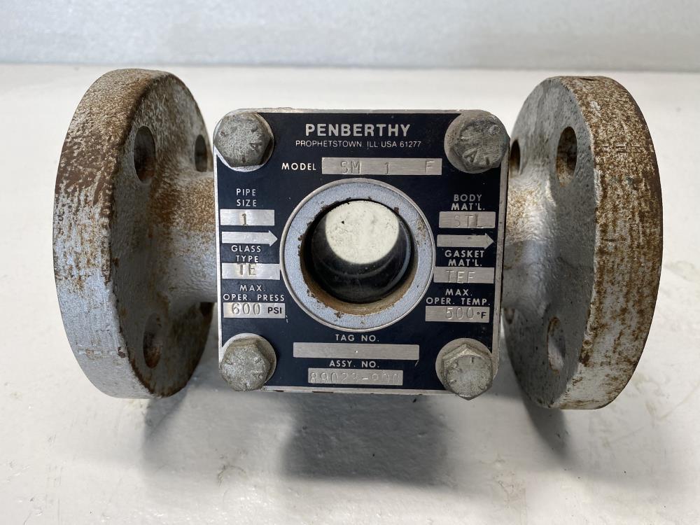 "Penberthy 1"" Flanged Steel Sight Flow Indicator, Plain Style, SM1F"