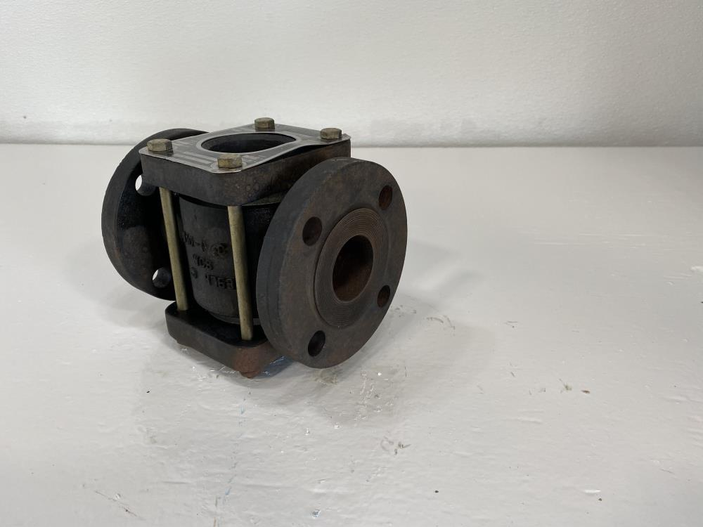 """Jacoby Tarbox 1-1/2"""" Flanged WCB Sight Flow Indicator w/ Drip Tube 608F"""