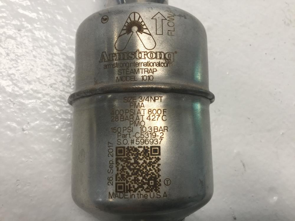 """Armstrong 1010 Stainless Steel Steam Trap, 3/4"""" NPT, 400 PSI, C5319-2"""