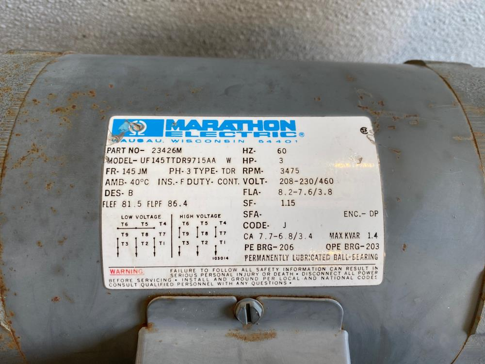 "Burks 1-1/4"" x 1-1/2"" Bronze Pump, 330GA7-1-1/4ABMV5.75SP W/ 3HP Motor, 3475RPM"