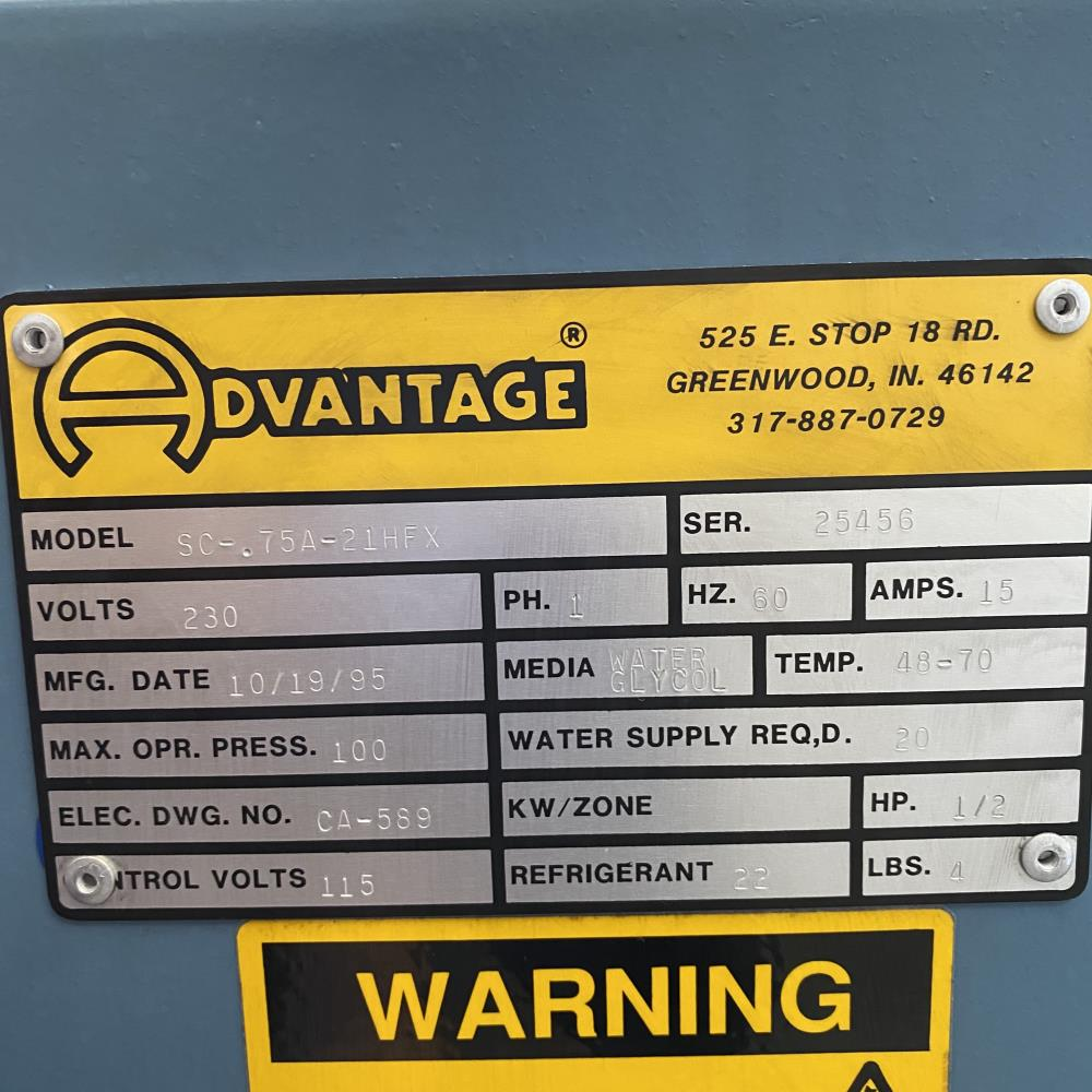 Advantage ICECUBE 3/4 Ton Water Glycol Portable Chiller, SC-.75A-21HFX