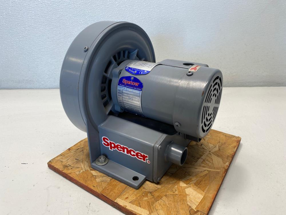 Spencer Vortex Blower, VB-002B-000 W/ 1/4 TE HP Motor, 2850 RPM