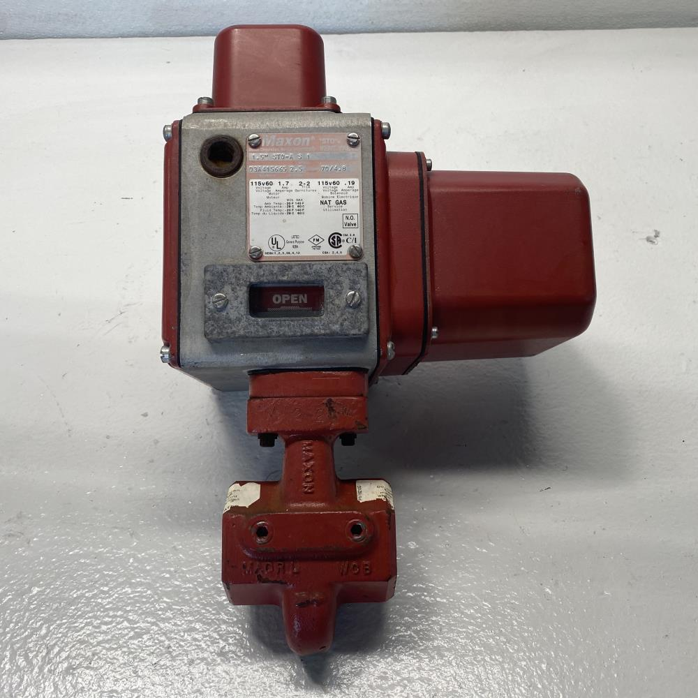 "Maxon 1-1/2"" Actuated ""STO"" Natural Gas Vent Valve, 1.5"" STO-A S 1"