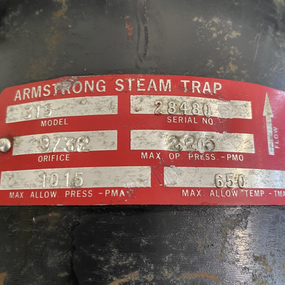 """Armstrong 315 Inverted Bucket Steam Trap 1"""" NPT"""