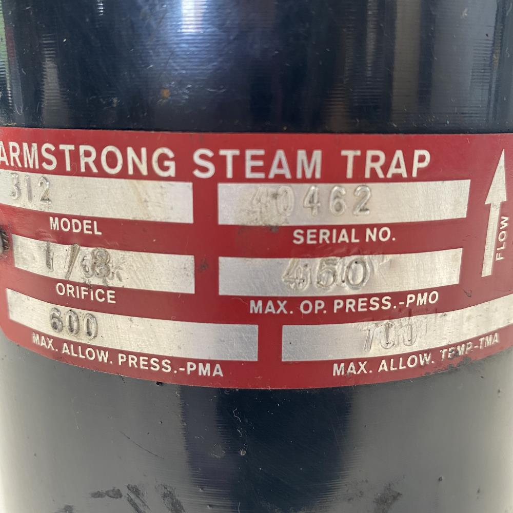 """Armstrong 312 Inverted Bucket Steam Trap 3/4"""" NPT"""