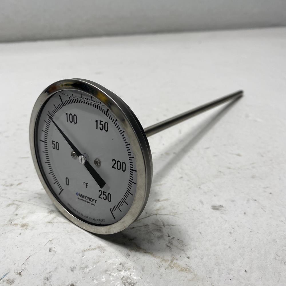 """LOT of (5) Ashcroft 3"""" EL Bimetal Thermometers, 0 to 250F, #30EL60R0900/250F"""