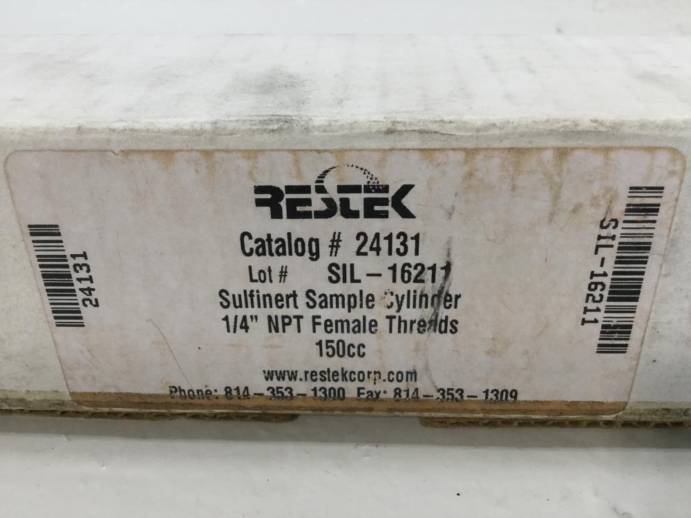"Restek Sulfinert Sample Cylinder, 316SS, 1/4"" NPT, 150cc, #24131"