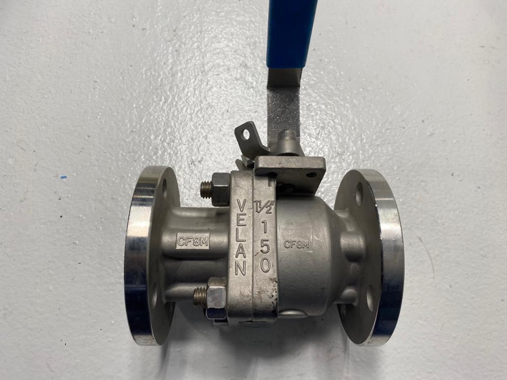 """Velan 1-1/2"""" 150# RF 316SS Full-Port Ball Valve, Figure 01413-SSEA, Model W330"""