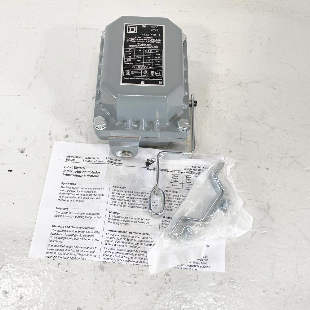 Square D Open Tank Float Switch 9036DW31