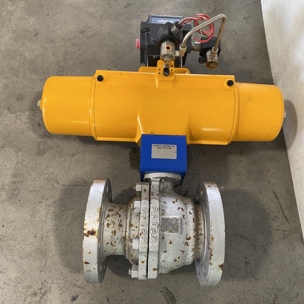 "KACE 4"" 300# WCB Ball Valve F1R300-13RG-L with Hytork 1371 Actuator"