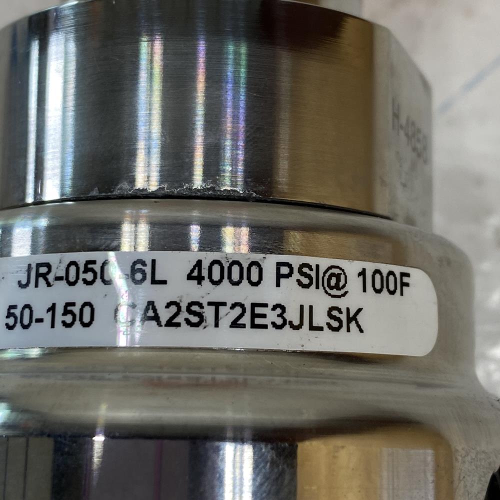 """Lowflow 1/2"""" NPT 316SS Air Gas Pressure Regulator, 4000 PSI, JR-050-6L"""