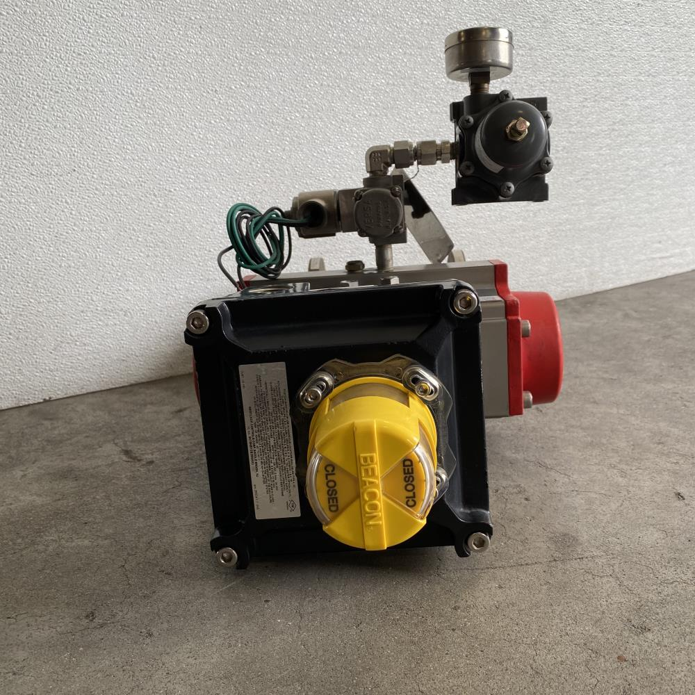 """AT Controls 1-1/2"""" 150# WCB Actuated Floating Ball Valve w/ Triac 130A Actuator"""