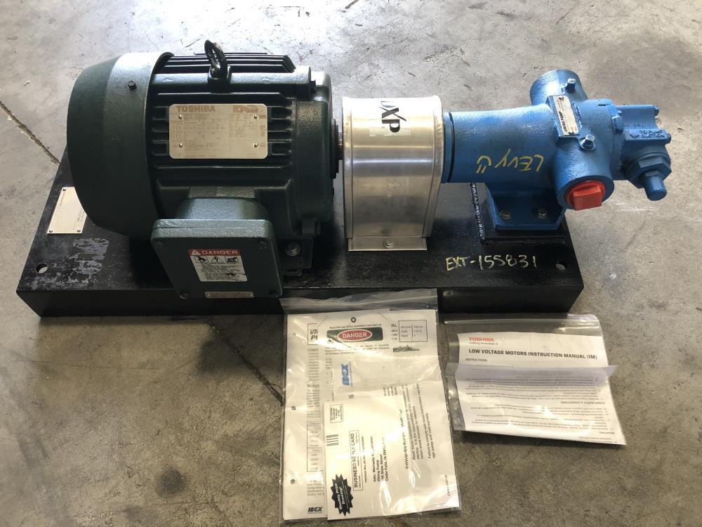 "Viking 1-1/2"" CI Gear Pump HL4195 w/ Toshiba 5 HP Exp. Proof Motor 0054XPEA41A-P"