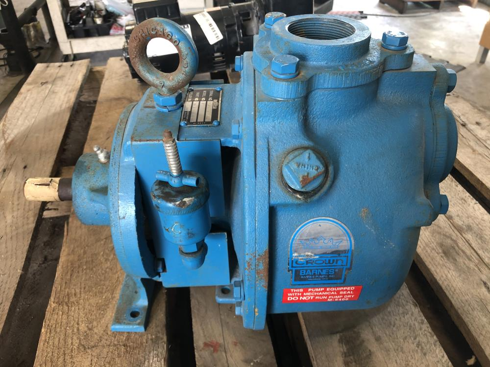 "Crown Barnes BH7 2"" NPT Self-Priming Centrifugal Pump 2C0UD-0006D-001"