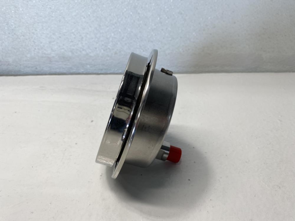 "McDaniel 4"" Face, 0 - 10,000 PSI Filled Hydraulic Pressure Gauge 1/4""NPT, EPP"