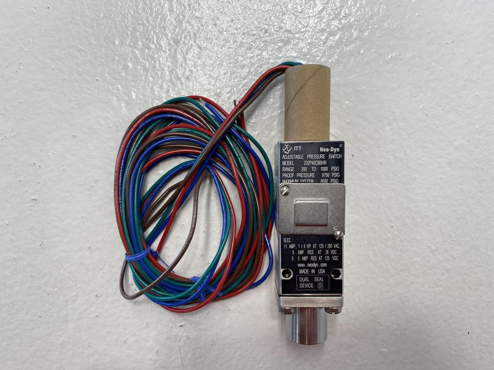 ITT Neo-Dyn 200 to 1000 PSIG Adjustable Pressure Switch 232P42C6BHR