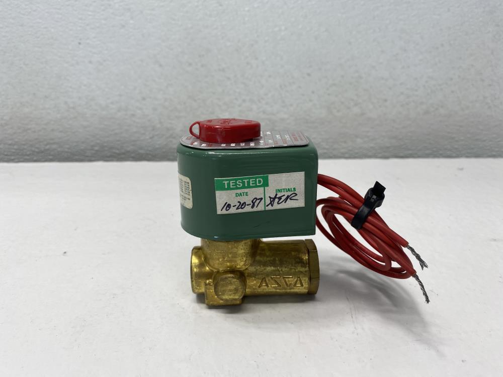 "Asco 1/4"" NPT 2-Way Brass Solenoid Valve 8223A25"