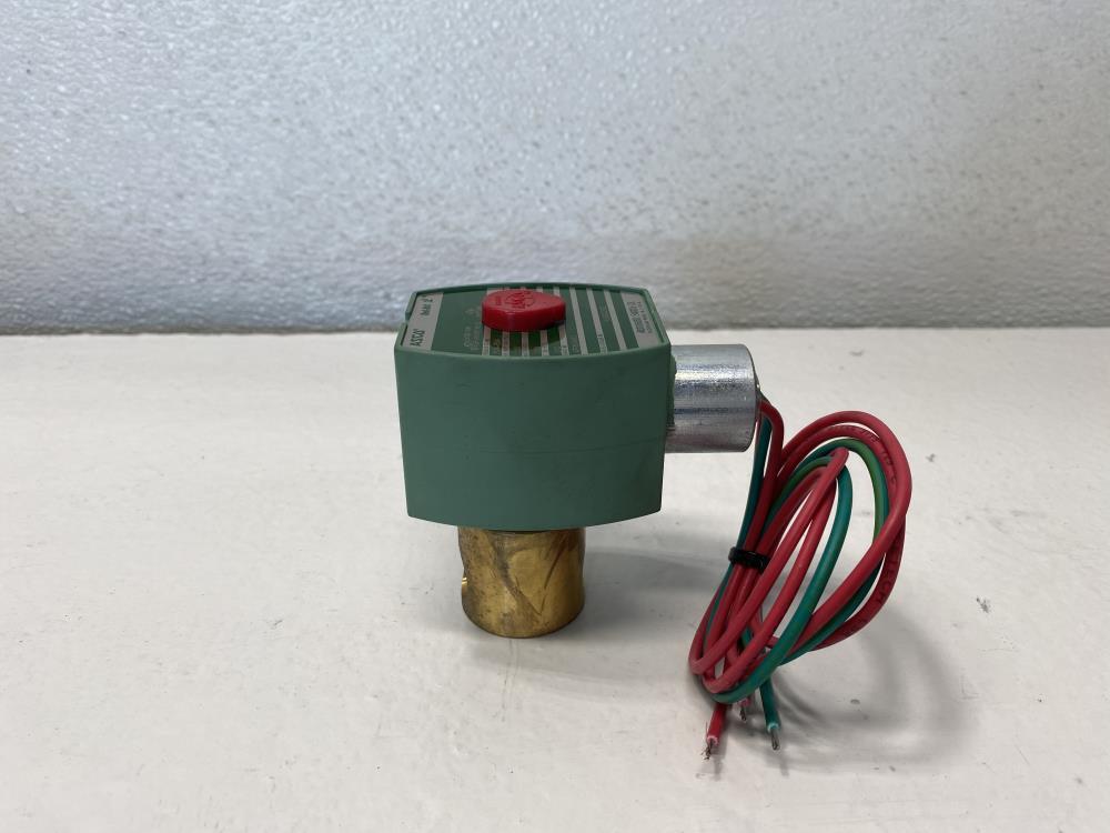 "Asco Red-Hat II 1/4"" NPT 2-Way Brass Solenoid Valve 8262G232"