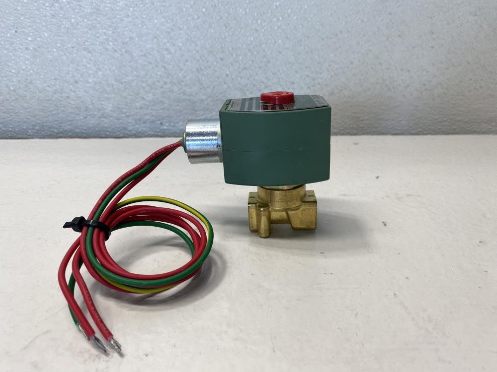 "Asco Red-Hat II 1/4"" NPT 2-Way Brass Solenoid Valve 8262G208"