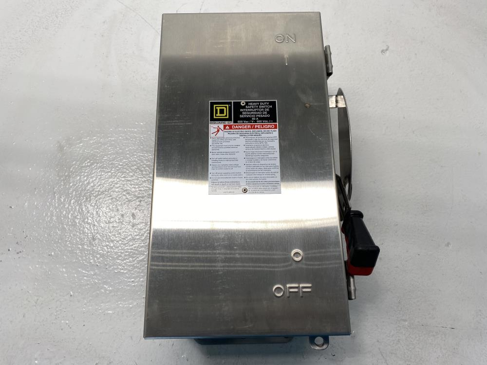 Square D Heavy Duty Safety Switch, SS, 60A, 3P, SW, Unfused, HU362DSEI2