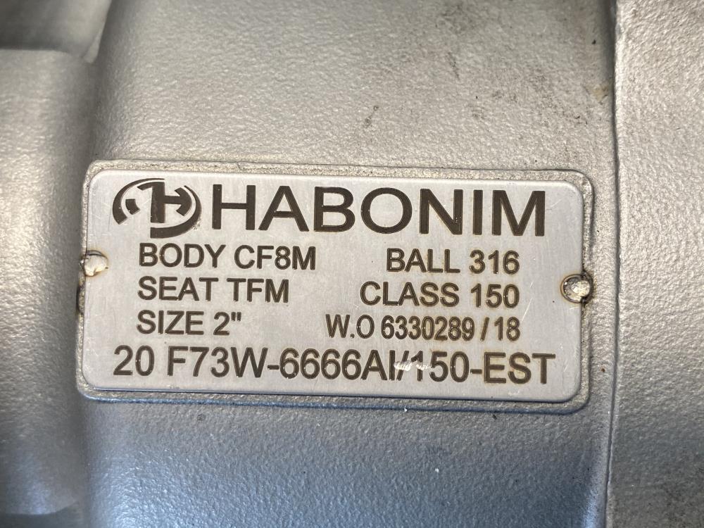 "Habonim 2"" 150# 316 Flanged Ball Valve 20 F73W-6666AI/150-EST w/ EMS Switchlink"