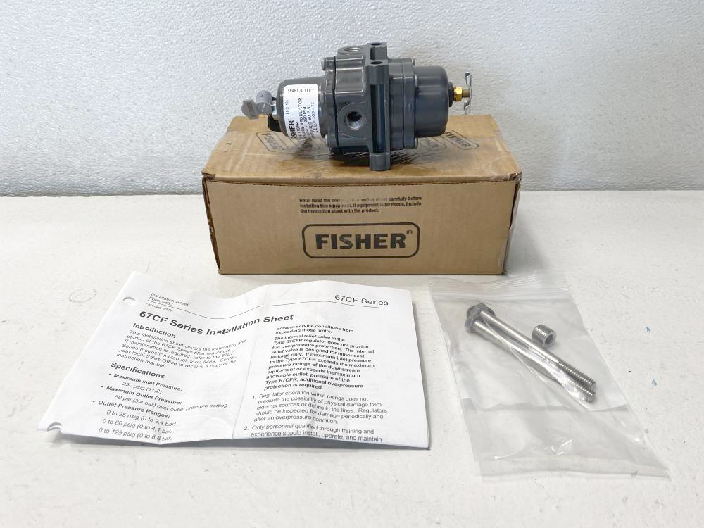 Fisher 67CFR Pressure Regulator 250 PSI Max, 0-60 PSI Spring Range