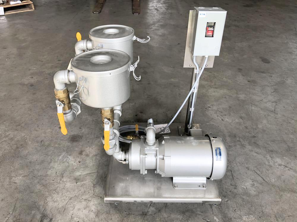 Tuthill Kinney High Vacuum Pump Assembly A020-3CBBBVA w/ Tuthill 3 HP Motor