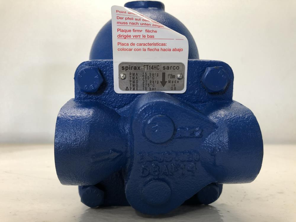 "Spirax Sarco 1"" NPT Ball Float Steam Trap FT14HC"