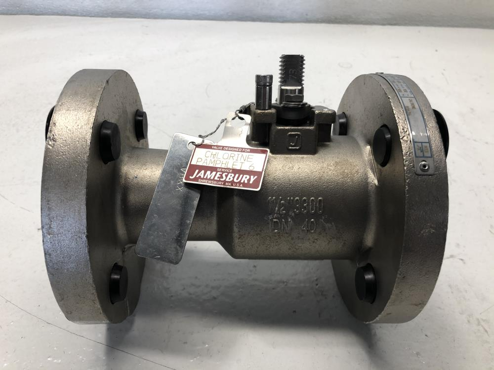 "Jamesbury 1-1/2"" 300# HASTC Ball Valve, #9300C317300XTZ4"