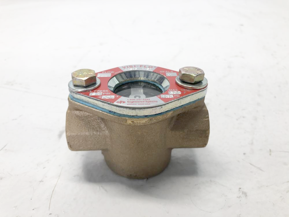 "Visi-Flo 1/2"" NPT Bronze Sight Glass Flow Indicator 1431D w/ Rotor"