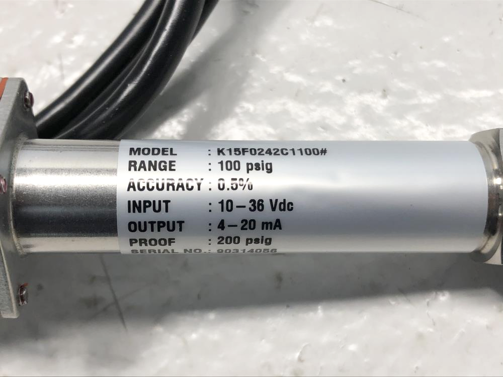 Ashcroft 100 PSIG Transducer K1-5-F02-42-C1-100#